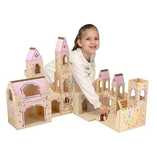 Dřevěný rozkládací růžový hrad