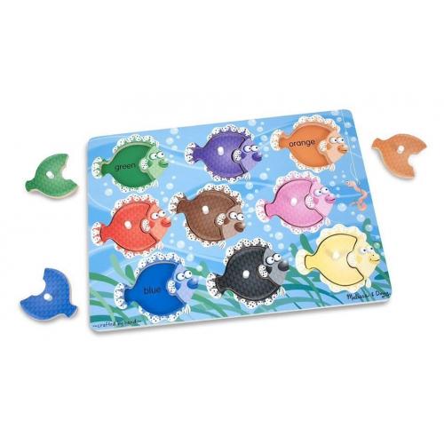 Dřevěné puzzle- Rybičky