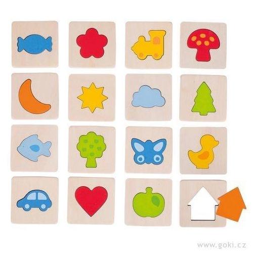 Hmatové dřevené puzzle